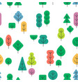 seamless forest pattern with different shapes and vector image vector image