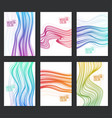 set colorful backgrounds vector image vector image