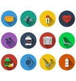 Set of fitness icons in flat design vector image vector image