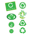 Set of Recycle Symbol for Save The World vector image vector image