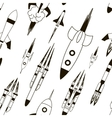 set rockets pattern vector image vector image