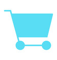 shopping cart silhouette icon minimal pictogram vector image vector image