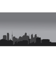 Silhouette of home town with gray color vector image vector image