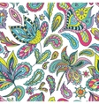 Summer Pattern with Indian Motifs vector image vector image