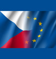 symbol czech republic is eu member vector image vector image