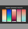 trendy gradient swatches vector image vector image