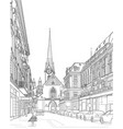 sketch of a city street vector image
