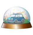 A dome with a blue car vector image vector image