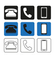 a set phone icons simple vector image vector image