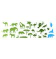 african australian arctic wild animal vector image vector image