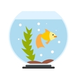 Aquarium flat icon vector image vector image