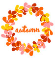 autumn wreath card isolated on white vector image