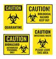 biohazard warning sign set biological hazard vector image vector image