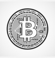 bitcoin sign crypto currency vector image