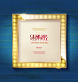 bright gold marquee vector image vector image