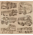 buses - an hand drawn collection freehand vector image