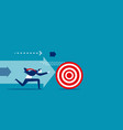 businessman chasing the target concept business vector image vector image
