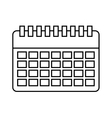 calendar reminder isolated icon design vector image