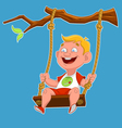 child on a swing vector image vector image