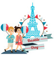 children boy and girl on national holiday france vector image vector image