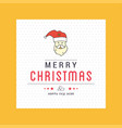 christmas card design with elegant design and vector image vector image