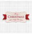 christmas festive badge graphic element vector image vector image