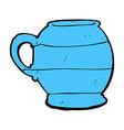 comic cartoon old style mug vector image vector image