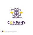 company name logo design for algorithm design vector image vector image