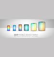 complete next generation device family included vector image vector image