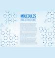 creative of molecular vector image vector image