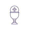 cup with communion wafer line design vector image vector image