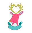 Cute cartoon hand drawn deer vector image vector image