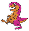 dinosaur rex vector image vector image