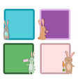 Easter rabbit character bunny different cards pose