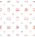 encyclopedia icons pattern seamless white vector image vector image