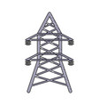 energy tower icon vector image vector image
