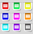 Equalizer icon sign Set of multicolored modern vector image vector image
