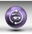 Eyelashes eyebrows eyelash eye icon makeup vector image vector image