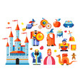 fairy tale characters magic kingdom king and vector image