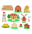 Farm buildings and constructions flat infographic vector image