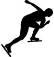 female athlete speed skater vector image vector image