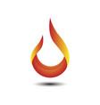 fire tech logo vector image vector image