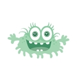 Funny Smiling Germ Blue Cartoon Character vector image vector image