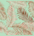 gold summer tropical palm leaves seamless pattern vector image vector image