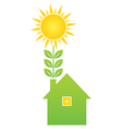 Green eco house vector image vector image