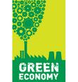 green economy vector image vector image