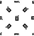 grocery bag with food pattern seamless black vector image vector image