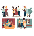 group female friends spend time together vector image