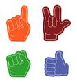 hand gestures flat vector image vector image