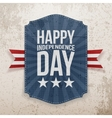 Happy Independence Day realistic Poster vector image